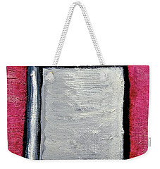 Weekender Tote Bag featuring the painting Stills 10-004 by Mario Perron