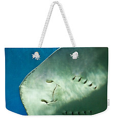 Weekender Tote Bag featuring the photograph Stingray Face by Eti Reid