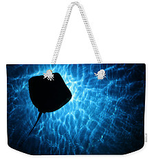 Weekender Tote Bag featuring the photograph Stingray Silhouette by Donna Corless