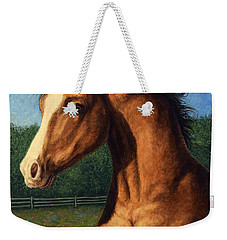 Weekender Tote Bag featuring the painting Stir Crazy by James W Johnson