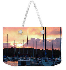 Weekender Tote Bag featuring the photograph Stockton Sunset by Deena Stoddard