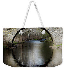 Stone Arch Bridge - Craquelure Texture Weekender Tote Bag