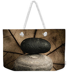 Stone Cairns II Weekender Tote Bag by Marco Oliveira
