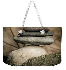 Stone Cairns Iv Weekender Tote Bag by Marco Oliveira