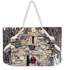 Stone Chapel In The Woods Trapp Family Lodge Stowe Vermont Weekender Tote Bag by Edward Fielding