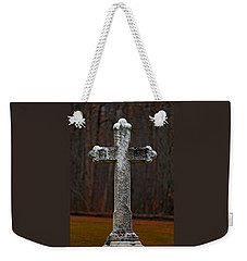 Weekender Tote Bag featuring the photograph Stone Cross by Rowana Ray