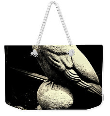 Stone Crow On Stone Ball Weekender Tote Bag by Kathy Barney