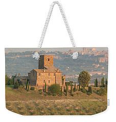Weekender Tote Bag featuring the photograph Stone Farmhouse by Marcia Socolik