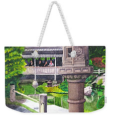 Stone Lantern Weekender Tote Bag by Mike Robles
