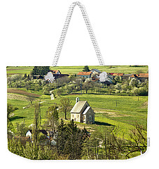 Stone Made Church In Green Nature Weekender Tote Bag
