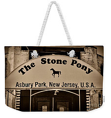 Stone Pony Enter Here Weekender Tote Bag by Paul Ward
