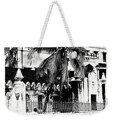 Weekender Tote Bag featuring the photograph Tanzania Stone Town Unguja Historic Architecture - Africa Snap Shots Photo Art by Amyn Nasser