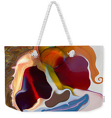 Weekender Tote Bag featuring the painting Stoned by Omaste Witkowski