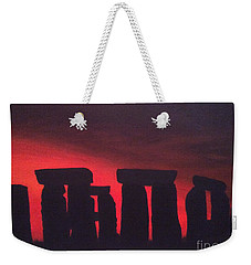 Stonehenge At Dusk Weekender Tote Bag