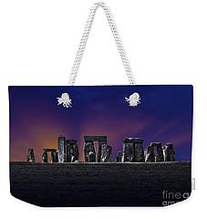 Weekender Tote Bag featuring the photograph Stonehenge Looking Moody by Terri Waters