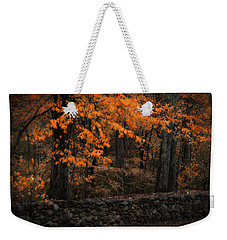 Stonewall In Autumn Weekender Tote Bag by GJ Blackman