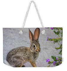 Weekender Tote Bag featuring the photograph Stop And Smell The Flowers by Tammy Espino