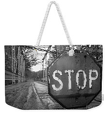 Weekender Tote Bag featuring the photograph Stop Sign by Michael Krek