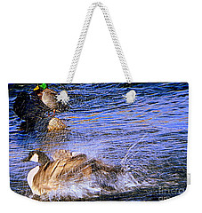 Stop Splashing Weekender Tote Bag by Bobbee Rickard