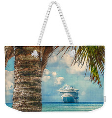Weekender Tote Bag featuring the photograph Stopover In Paradise by Hanny Heim
