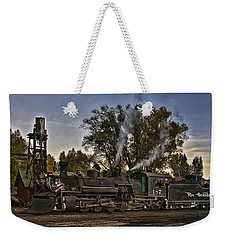 Weekender Tote Bag featuring the photograph Stopped At Chama by Priscilla Burgers