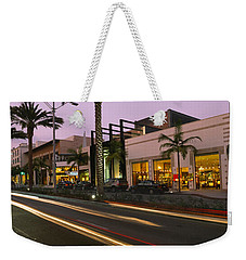 Stores On The Roadside, Rodeo Drive Weekender Tote Bag by Panoramic Images