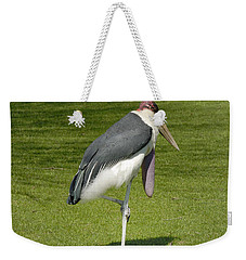Weekender Tote Bag featuring the photograph Stork by Charles Beeler