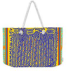 Weekender Tote Bag featuring the digital art Storks by Vagabond Folk Art - Virginia Vivier