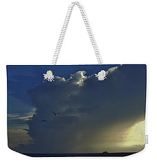 Storm Across Delaware Bay Weekender Tote Bag by Ed Sweeney