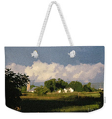 Storm Clouds Over Michigan Farm At Sunrise Weekender Tote Bag