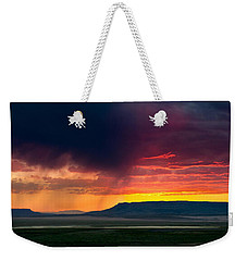 Storm Clouds Over Square Butte Weekender Tote Bag