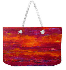 Storm Clouds Sunset Weekender Tote Bag