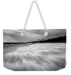 Storm Front On The Beach Weekender Tote Bag