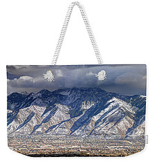 Storm Front Passes Over The Wasatch Mountains And Salt Lake Valley - Utah Weekender Tote Bag