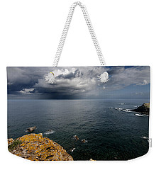 A Mediterranean Sea View From Sa Mesquida In Minorca Island - Storm Is Coming To Island Shore Weekender Tote Bag