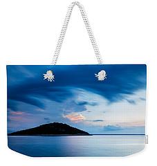 Storm Moving In Over Veli Osir Island At Sunrise Weekender Tote Bag