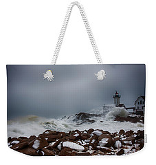 Storm Off Eastern Point Lighthouse Weekender Tote Bag