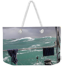 Storm On Tasman Sea Weekender Tote Bag by Jola Martysz