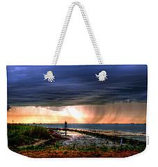 Storm On The Bay Weekender Tote Bag