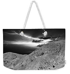 Weekender Tote Bag featuring the photograph Storm On The Mountain by Athala Carole Bruckner