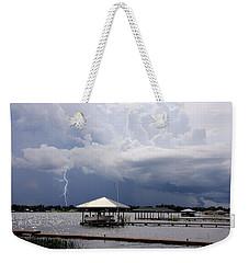 Storm Over Clay Lake Weekender Tote Bag
