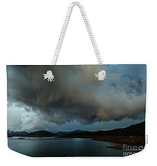 Storm Over Lake Shasta Weekender Tote Bag