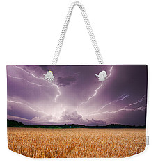 Storm Over Wheat Weekender Tote Bag