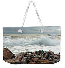 Storm Surf At Rye Beach Weekender Tote Bag