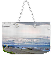 Weekender Tote Bag featuring the photograph Storm Tail by Steven Santamour