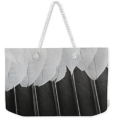 Weekender Tote Bag featuring the photograph Stormy Feathers by Judy Whitton