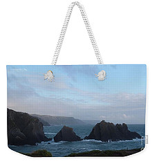 Hartland Quay Storm Weekender Tote Bag