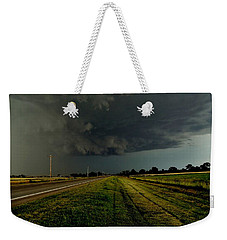 Stormy Road Ahead Weekender Tote Bag by Ed Sweeney