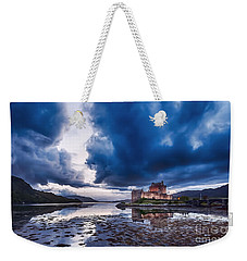 Stormy Skies Over Eilean Donan Castle Weekender Tote Bag