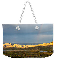 Stormy Sky With Rays Of Sunshine Weekender Tote Bag by Nadja Rider